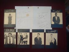 More details for simply red mick hucknall signed press photograph cards 6 x 4