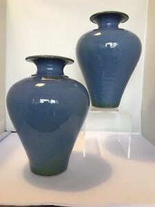 Beautiful Pair Of  Louis Mulcahy Irish Studio Vases