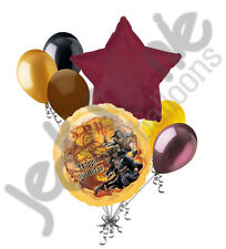 7 pc Happy Birthday Pirate of the Caribbean Balloon Bouquet Party Decoration