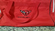 """New listing Corvette Red canvas Duffle Bag 23""""long,11""""tall 11""""wide"""