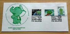 1993 Malaysia Overprint Bangkok World Stamp Exhibition Cachet private FDC (rare)