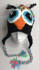 Owl Crochet Knit Adult Cap Hat Multicolor Ski Beanie Womens Winter Novelty Gift