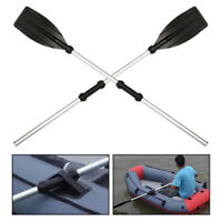 2PC Aluminium Boat Oars Dinghy Canoe Raft Kayak Durable Paddles Blades Rafting G
