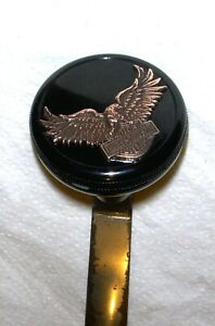 Bakelite Dakaware SHIFT KNOB has 3D Eagle with HARLEY DAVIDSON Bar & Shield