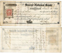 CIVIL WAR 1864 Certificate of Deposit, $500 2nd National Bank , Freeport, IL