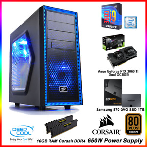 RTX 3060 Ti Dual OC, i9 9900KF 3.6GHz, 16GB RAM, 1TB SSD, 650W, WIFI Gaming PC