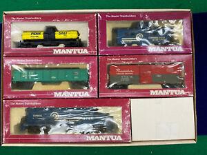 "Mantua Red Box HO Conrail 6789 GP-20 ""Heavy Hauler"" Train Set."