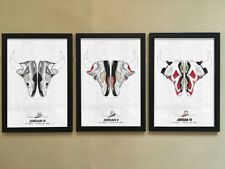 "3pcs Solid frame - 008 Sneakers Air Jordan Shoes 12""x16"" Minimalist Poster Frame"