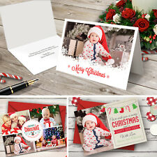 Personalised Xmas Photo Christmas Cards Folded Postcards Family Baby 2020