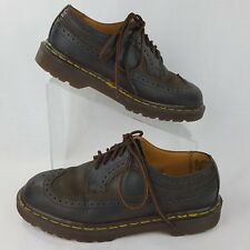 Dr Martens Size 7 Oxford Men's Brown Leather Wing Tip Brogue England 6 UK