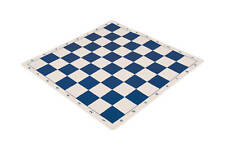 """Regulation Silicone Tournament Chess Board - 2.25"""" Squares Blue & Natural"""