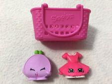 Shopkins McDonalds Happy Meal Lot Pink Basket Suzie School Skirt Connie Coin Bag