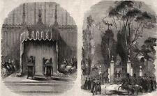 Throne in King's College Chapel; St. John's Gate. Cambridgeshire, print, 1843