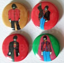 BEATLES YELLOW SUBMARINE set of four 25mm BADGE BUTTON PINS