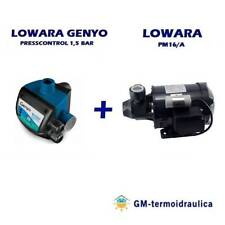Kit Autoclave Elettropompa LOWARA PM 16 + Press Control LOWARA GENYO 8A/F15