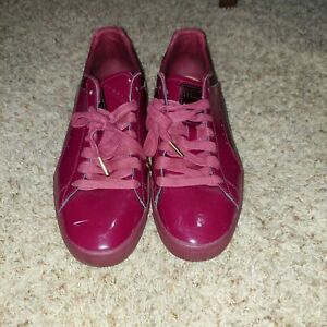 Size 11 - PUMA Clyde Wraith Red Patent Leather Burgundy