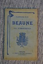 Vintage Illus. Guide of Beaune & Surroundings Map of Town List of Streets 1920s