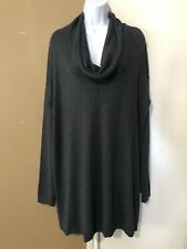 NWT Motherhood Maternity Sz XL Cowl Neck Charcoal Gray Tunic Sweater Comfy