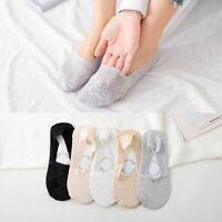 Women Summer Ice Silk Boat Socks Breathable Invisible Nonslip Stocking  t