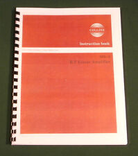 "Collins 30L-1 Instruction Manual: W/ 11""X17"" Schematic & Protective Covers!"