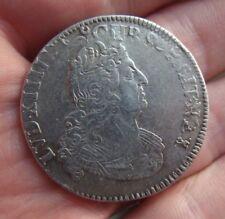 Louis XIV demi 1/2 écu aux 8 L en argent 1704 atelier effacé - réformé - ref193