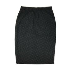 Stitch Fix 41Hawthorn Stretch Pencil Skirt Black Gray Diamond Stretch Medium NWT