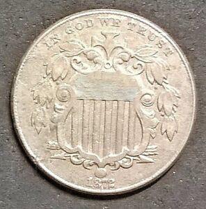 1872  Shield Nickel    Free shipping!
