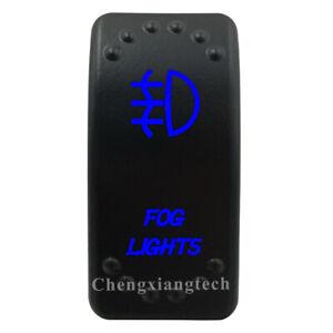 Fog Lights Rocker Switch 5P SPST On Off Blue Led for Car Boat RV ARB Camper