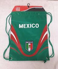 Mexico Cinch Bag Color Green & Red Official Licensed Product NWT