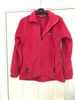 Berghaus Pink SweatShirt Size 8 Womens Long Sleeve Zipped Great Condition (D647)