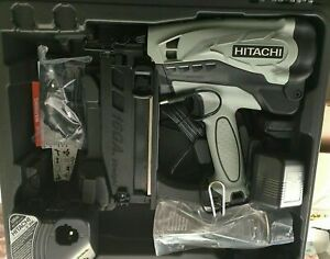 "Hitachi NT65GS 2-1/2"" Gas Powered 16GA Finish Nailer Full Kit + Car charger 2019"