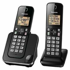 New Panasonic KX-TGC352B Expandable Cordless Phone with Amber Backlit Display