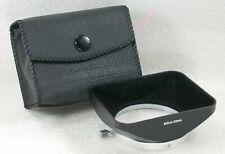 Genuine Konica 24mm / 28mm Metal Lens Hood + Case
