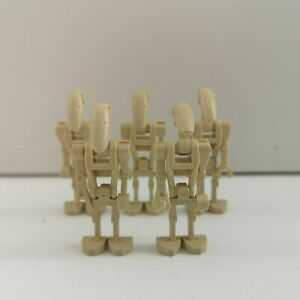 Lego - Star Wars - 5 x Battle Droid Tan - Genuine Minifigure (sw0001)