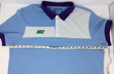 Nike Golf Stretchy Dri-Fit S/S Blue Polo Shirt Size XL