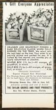 1944 Taylor Groves Fruit Products Winter Haven FL Holiday Ad Oranges Grapefruit