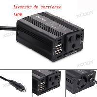 150W 12V-220V Transformador Corriente Coche Convertidor Inversor 2 USB Cargador