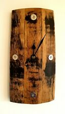 Clock - Oak Whisky Barrel Stave And Shotgun Cartridge Wall Clock