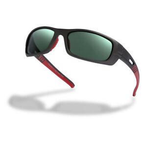 Higher State Unisex Polarised Wrap Run Sunglasses Black Red Sports Running