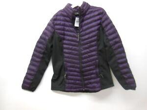 32° HEAT Women's Zip Front Puffer Jacket - Size M - dark blackberry color - NEW