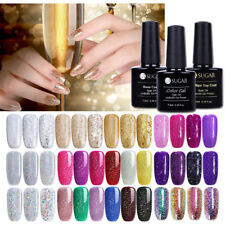 Champagne  Argent Or Glitter UV Gel Nail Art Semi Permanent Vernis à ongles DIY
