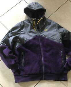 Nike Windrunner Hood Shepra Jacket Grey-Purple 340281-064 Men's Rare  L