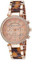 Michael Kors Womens Tortoiseshell Rose Gold Watch MK5538  RRP £230