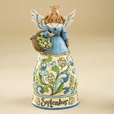 Jim Shore Birthstone & Flower Of The Month Angels-September