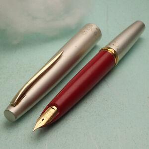 RARE Pilot 1964's Special Edition: Elite Neon Red 18K Gold F Nib Fountain Pen