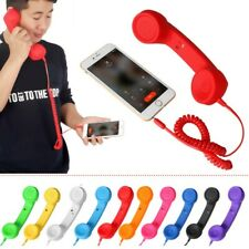 3.5MM Jack Wired Headphone Micphone Retro Telephone Shape Mobile Phone Handset