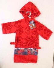 NEW SPIDERMAN SUPERHERO MARVEL HERO  PJ Pajama RED Bath Robe Boy