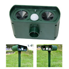 SOLAR Ultra Sonic Garden Animal Deterrent PIR Repeller Cat Dog Fox Bird Scarer