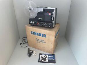 CINEREX Super 8 8mm Sound Projector Model SU-510 - With Box & Manual