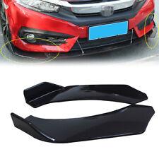 Black Winglet Side Lip Splitter Wing For Front Bumper Splitter Diffuser Car SUV